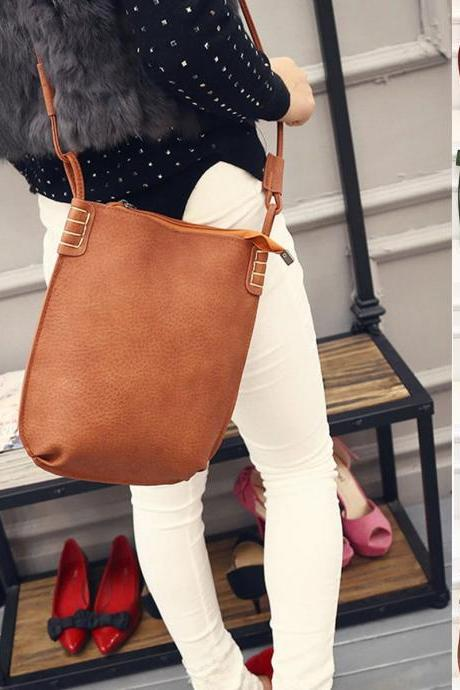 Women Fashion PU Leather Handbag Shoulder Tote Hobo Satchel Messenger Bag Purse
