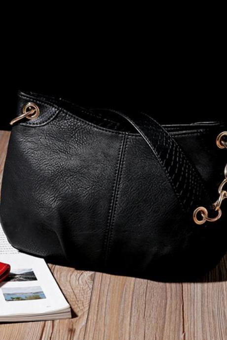 New Fashion Women PU Leather Handbag Shoulder Bag Messenger Hobo Tote Purse Bag